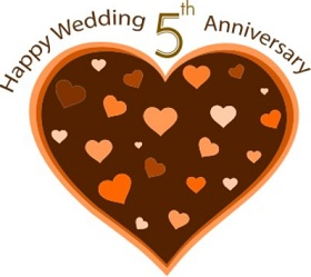 happy wedding 5th anniversary