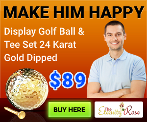 Gold golf ball for him