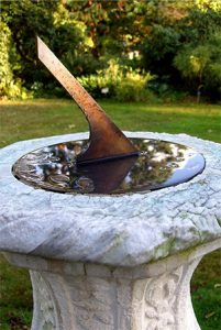 sundial for the garden - anniversary gift